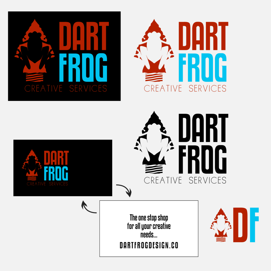 Dart Frog Logo Example Contact Sheet